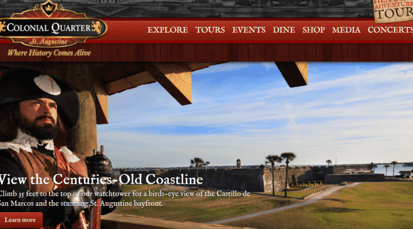 Colonial Quarter – St Augustine, Bayfront Westcott House