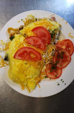 omelette with tomato