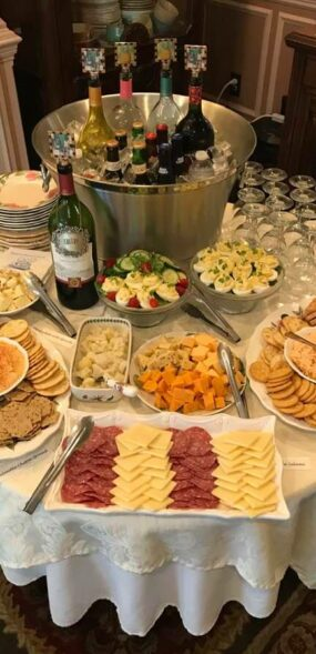 assortment of food for happy hour