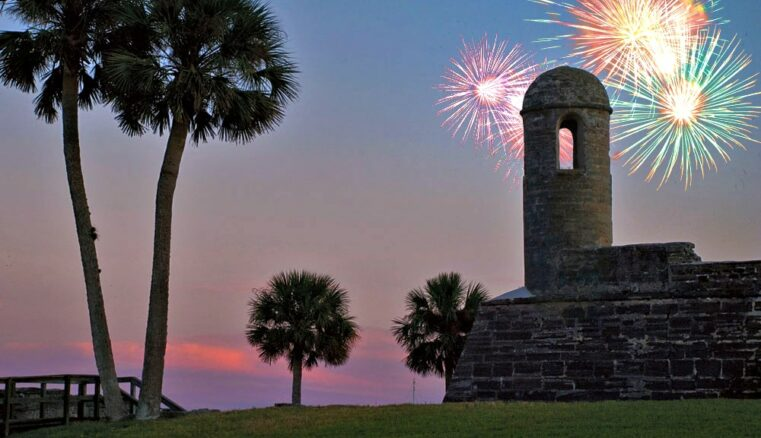 Fireworks at the fort
