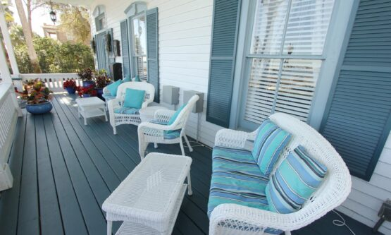 first floor porch with bay view