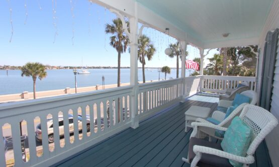 View of bay from second floor balcony