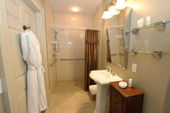 walk in accessible shower